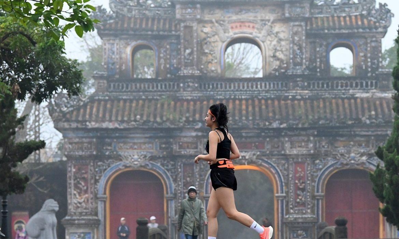 Tantangan jogging untuk menyambut tahun baru menerima hadiah