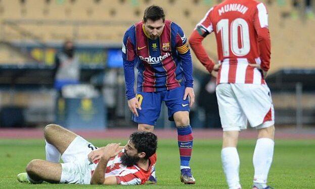Lawan Messi agresif