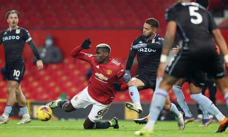 Pelatih Aston Villa: 'Pogba mendapatkan penalti sendiri'