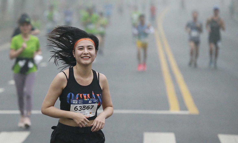 Pertama kali mencetak nama atlet di kaos pada maraton VM Ha Long