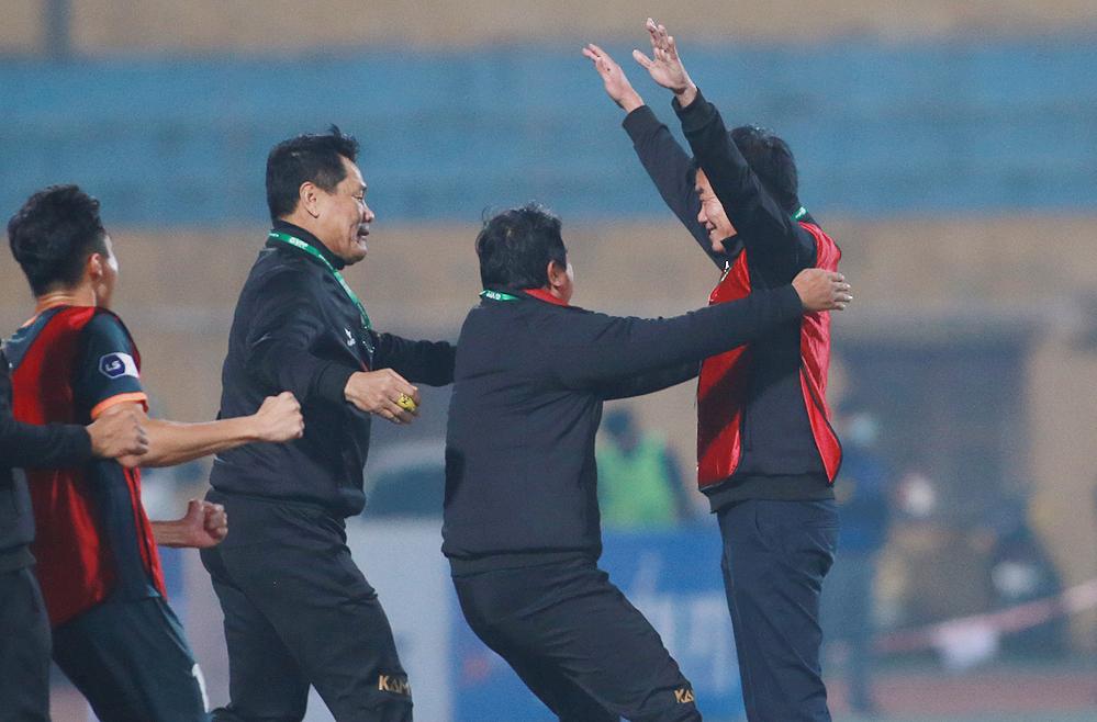 Pelatih Binh Duong: 'Tanpa diduga mampu memenangkan Hanoi'