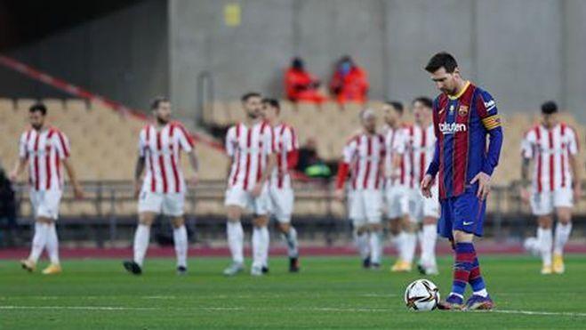 Barca kalah dalam pertandingan Piala Super Spanyol