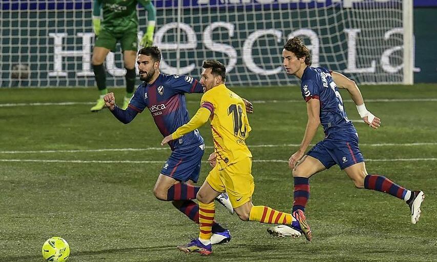 Messi membantu Barca memenangkan pertandingan