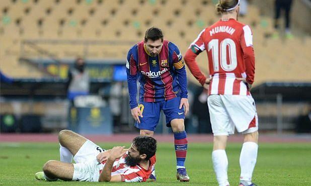 Penyerang Bilbao: 'Messi menerima kartu merah karena ketidakberdayaan'