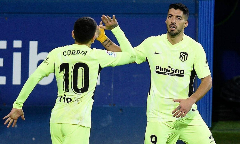 Suarez membantu Atletico berjarak 10 poin dari Barca