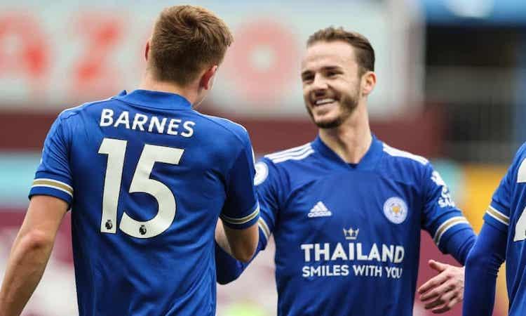 Leicester melampaui Man Utd