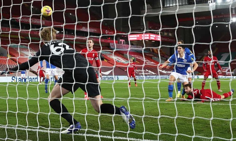 Liverpool kalah lagi di Anfield