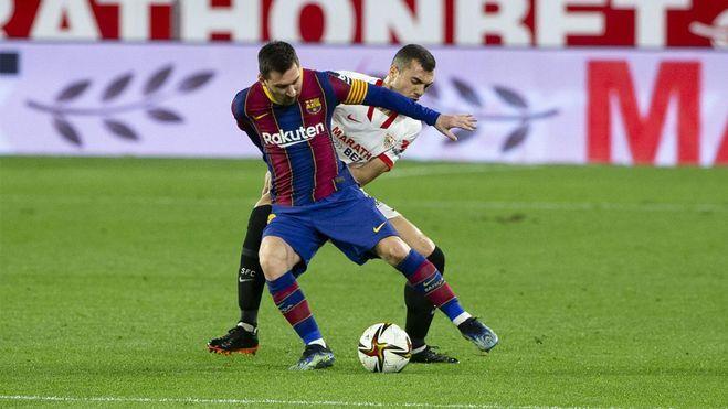 Sevilla mendorong Barca ke posisi sulit