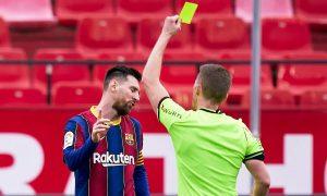 Pelatih Sevilla: 'Kartu merah Messi bisa dihukum'