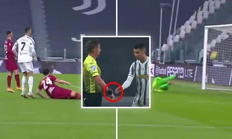 Ronaldo diminta melihat arloji wasit