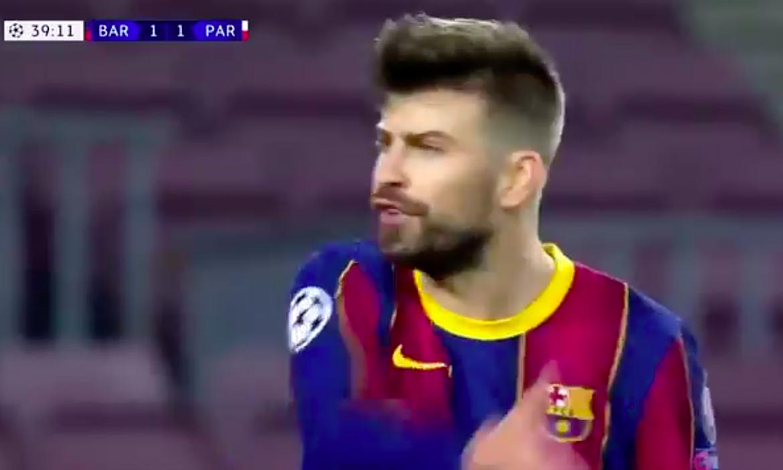 Para pemain Barca saling mengumpat