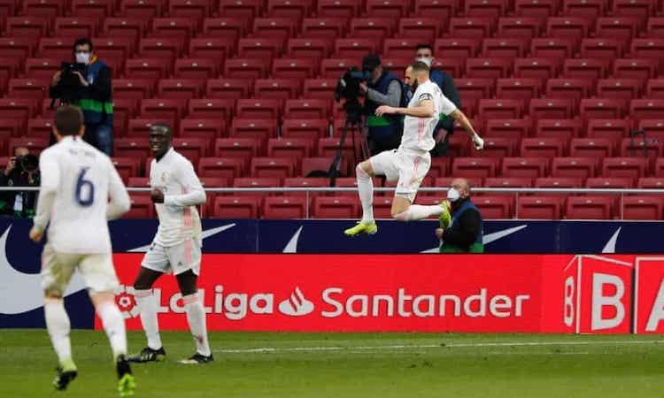 Benzema membantu Real mempertahankan Atletico