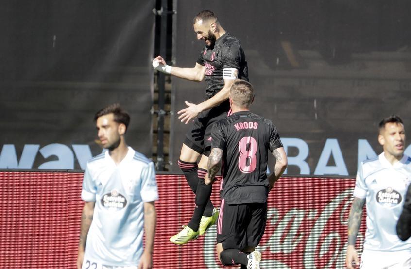 Benzema mencetak dua gol kedua berturut-turut