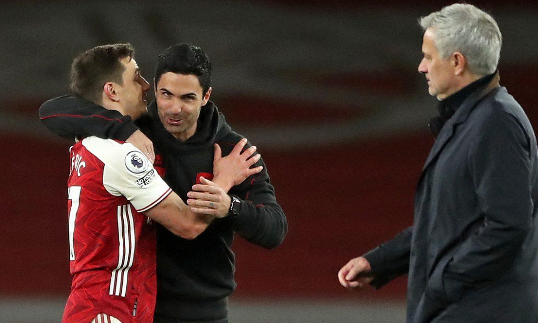 Arteta mengaku beruntung bisa memenangkan Tottenham