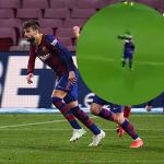 Messi melompat ke meja Pique