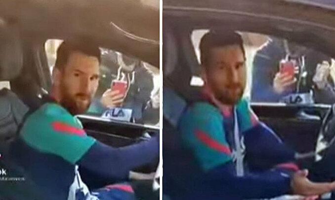 Messi marah saat fans mengambil video tersebut