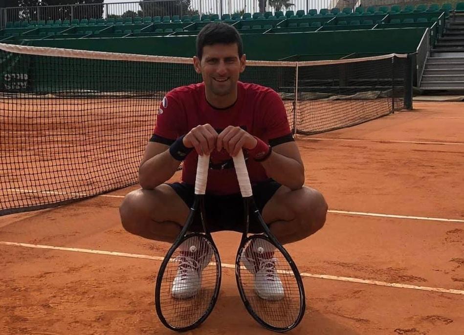Djokovic berlatih di Monte Carlo