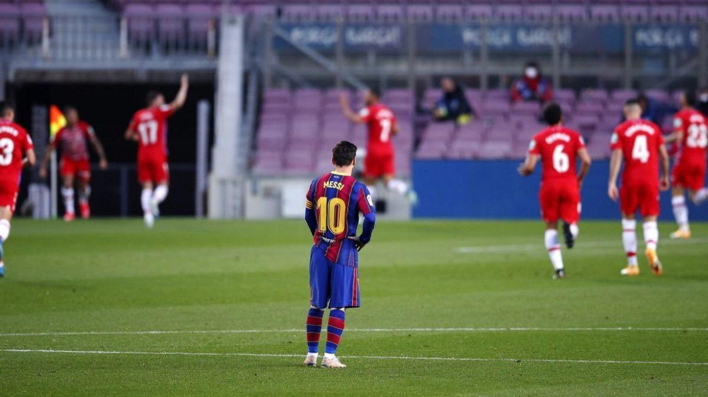 Messi tak bisa membawa Barca ke puncak klasemen
