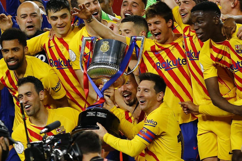 Messi mencetak dua gol, Barca memenangkan Piala Raja