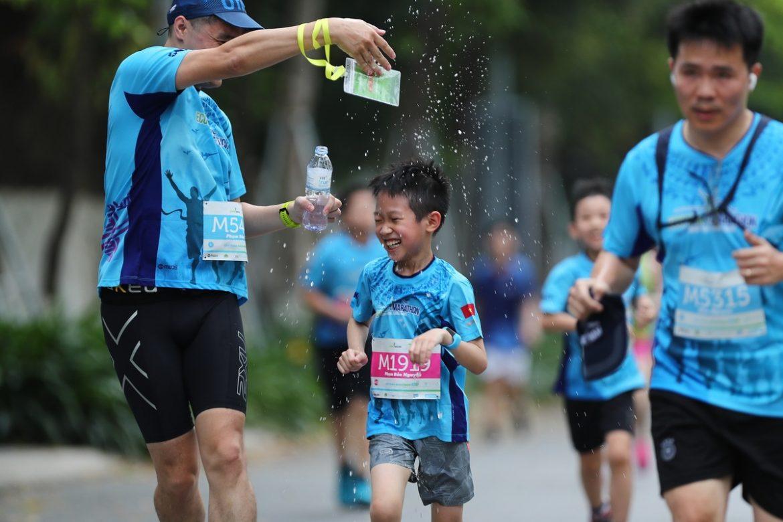 Pelari anak di Ecopark Marathon 2021