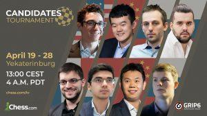Para kandidat pertandingan ulang turnamen catur hari ini