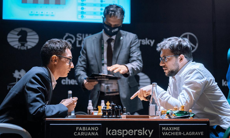 Caruana mengalahkan Vachier-Lagrave dengan mengingat 25 gerakan