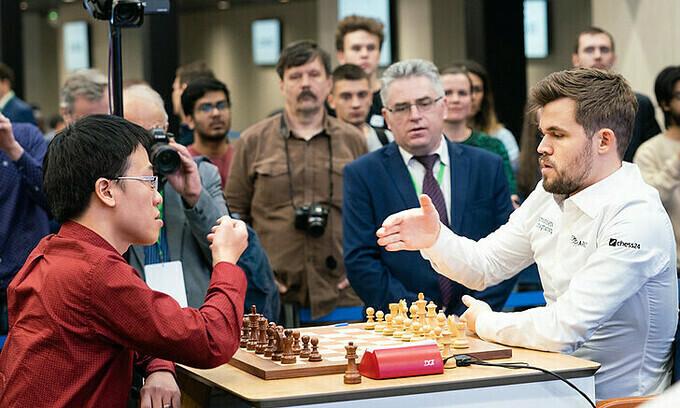 Quang Liem melawan catur Raja Carlsen hari ini