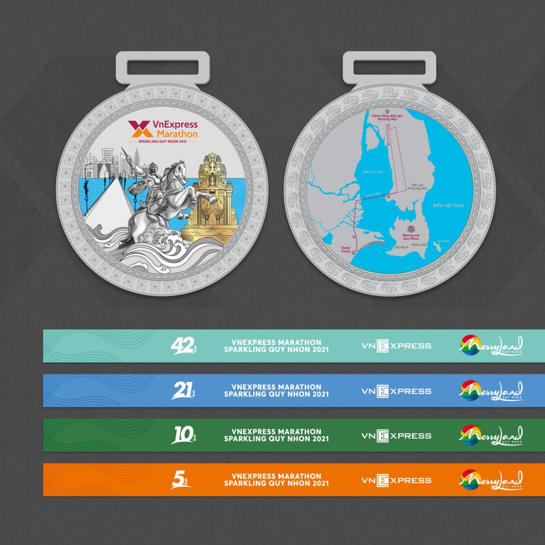 Medali VM Quy Nhon 2021 dalam foto Raja Quang Trung