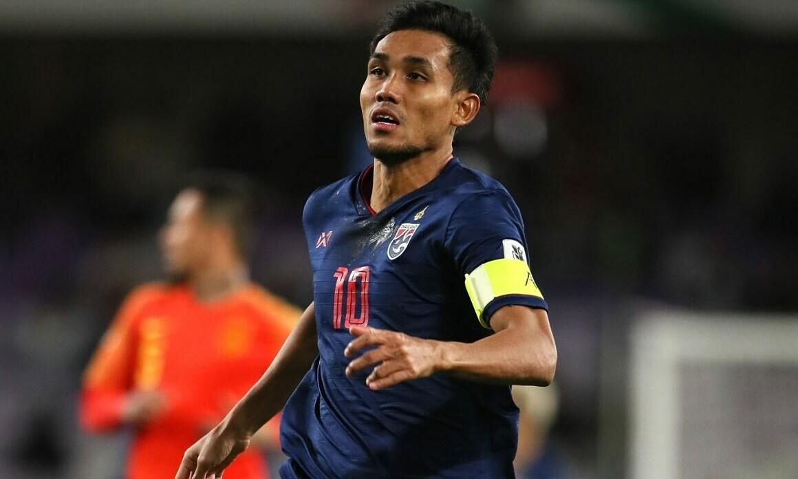 Thailand kehilangan striker utamanya di babak kualifikasi Piala Dunia