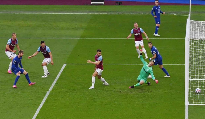 Chelsea mendorong West Ham menjauh dari 4 besar