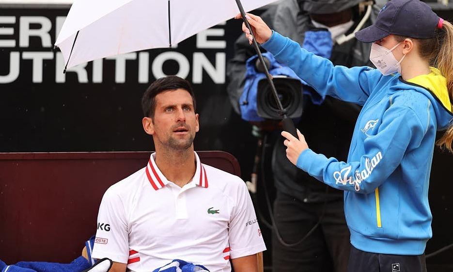 Djokovic marah kepada wasit karena hujan