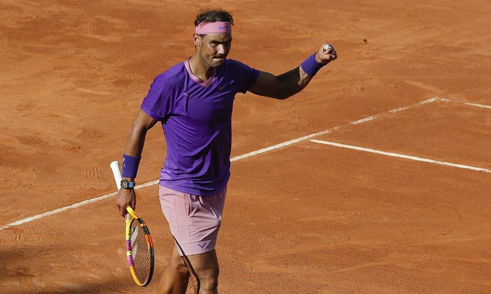 Nadal menyelamatkan dua match point di putaran ketiga Rome Masters