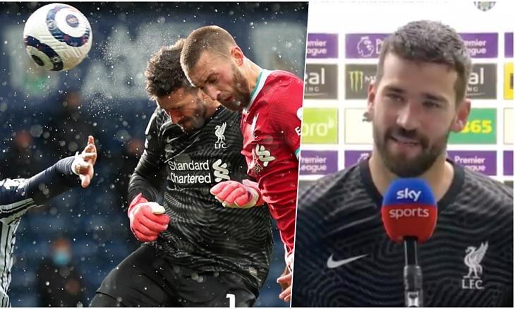 Kiper Alisson: 'Semoga saya tidak perlu mencetak gol lagi'