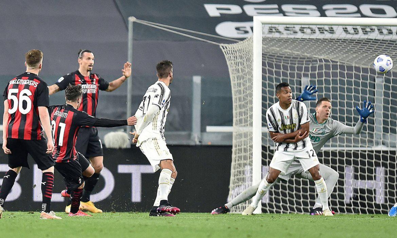Milan mengalahkan Juventus dari 4 besar Serie A.