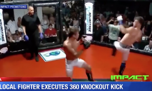 Putar 360 derajat untuk menendang lawan Anda knock-out