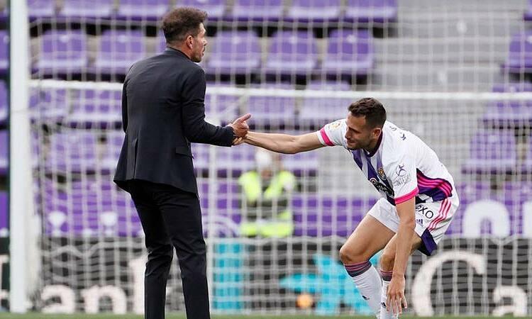 Simeone menghibur pemain Valladolid