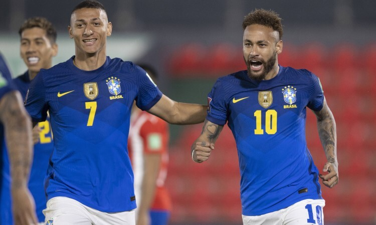 Neymar membantu Brasil memenangkan pertandingan keenam berturut-turut