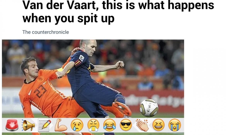 Surat kabar Spanyol menyombongkan diri ketika Belanda tersingkir