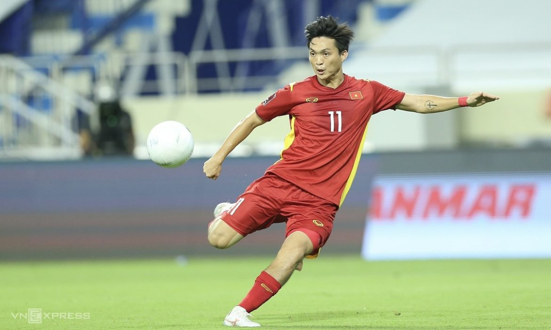 Tuan Anh memasukkan bola paling banyak di pertandingan Indonesia