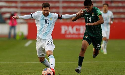 Argentina 1-0 Bolivia (babak pertama): Messi assist