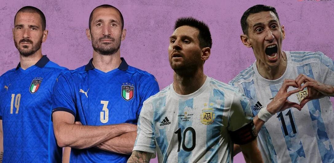 Argentina vs Italia di pertandingan Piala Super Maradona
