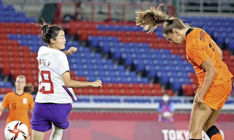 Wanita Cina kalah dari Belanda 2-8