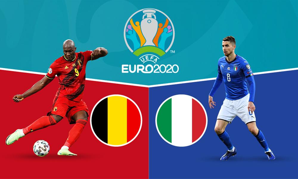 Korelasi sebelum pertandingan Belgia – Italia