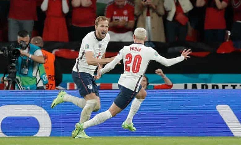 Kane menyamai rekor gol Inggris di Euro dan Piala Dunia