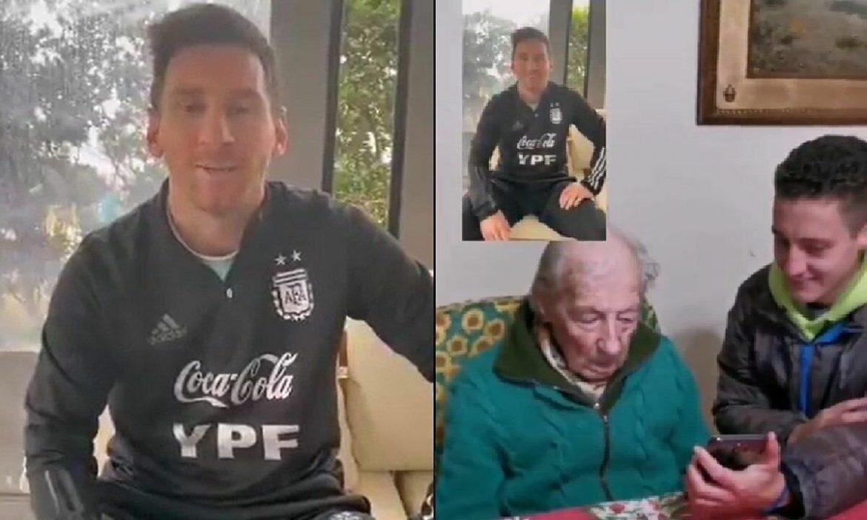 Messi menghargai penggemar berusia 100 tahun