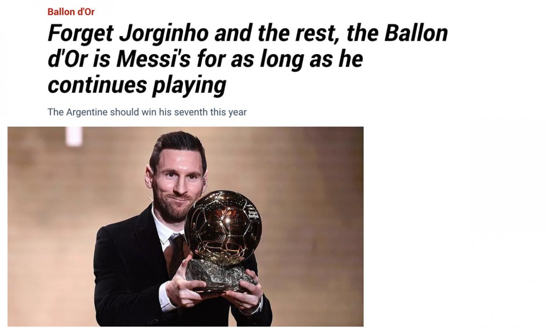 Marca: 'Messi pantas mendapatkan Ballon d'Or selama dia bermain'