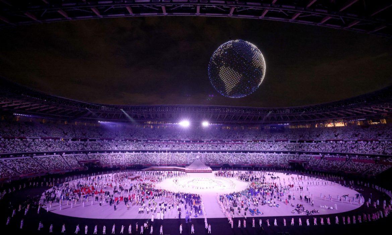 Sorotan pada upacara pembukaan Olimpiade 2020