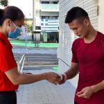 Van Duong bermain di babak kedelapan Olimpiade